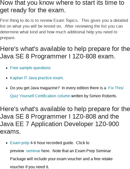 Mix · Your Guide to Getting Started With Java Certification