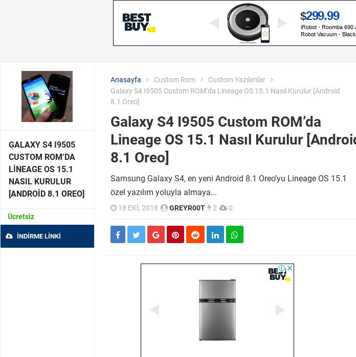 Mix · Galaxy S4 I9505 Custom ROM'da Lineage OS 15 1 Nasıl