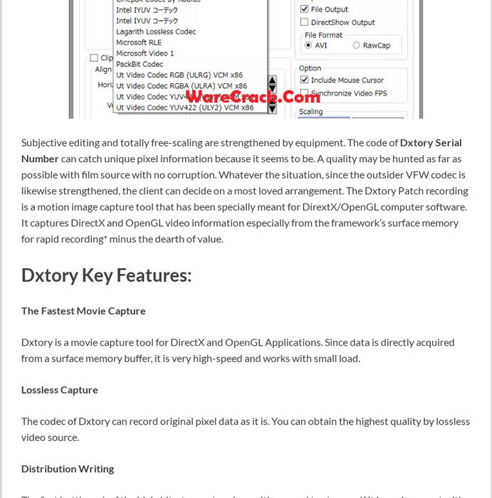 dxtory license download