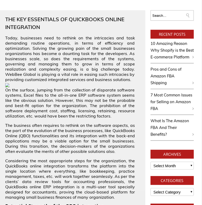Mix · Key Essential Of Quickbooks Online Integration