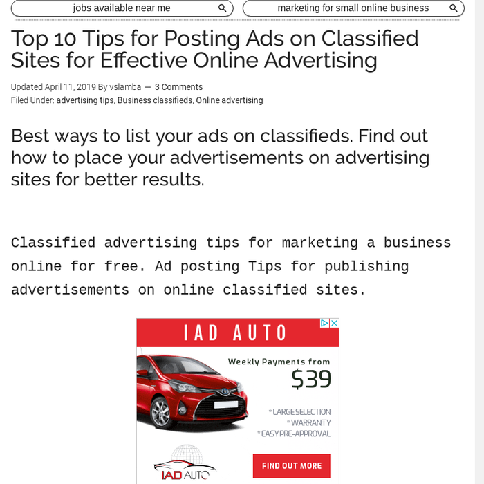 Mix · Top 10 Tips for Posting Ads on Classified Sites for Effective