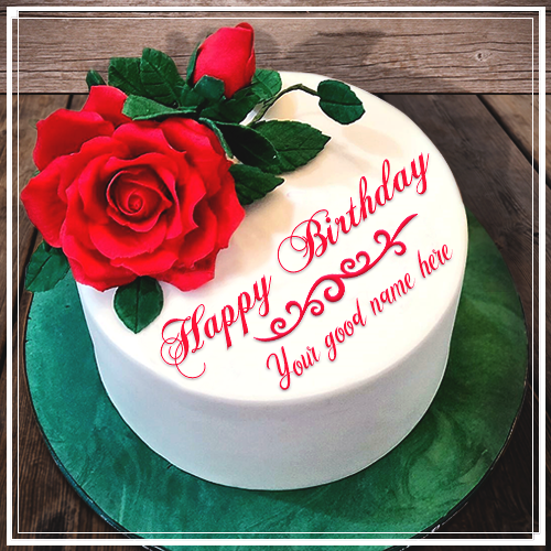 Rose Birthday Cake With Name GeneratorRed Editor Online Best Collection Write On Cakes Into My Pics