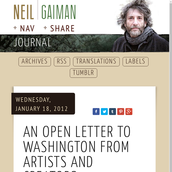 Mix · An open letter to Washington from Artists and Creators