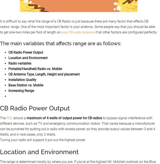 Mix · CB Radio Range: What is the Range of a CB Radio?