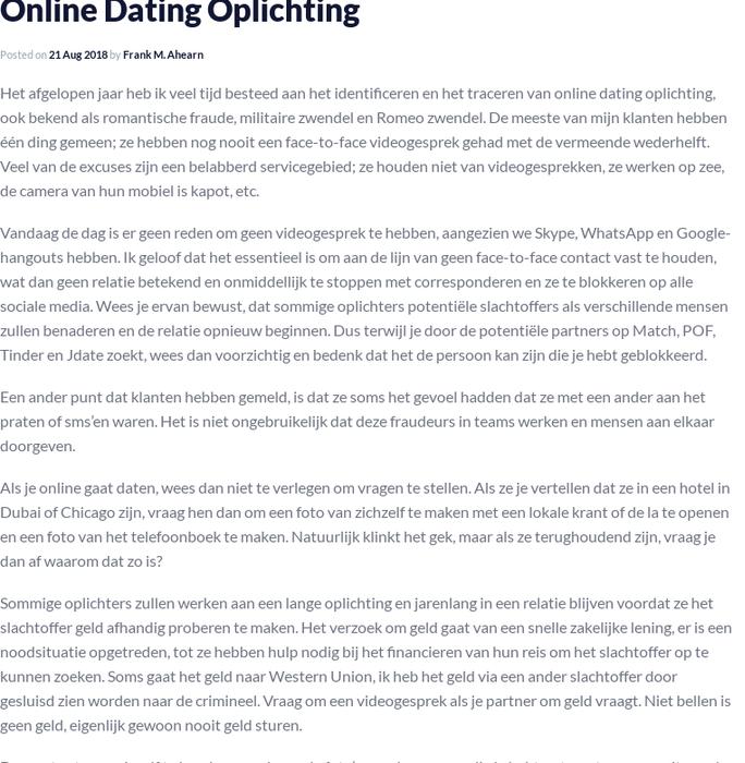 Vraag online dating