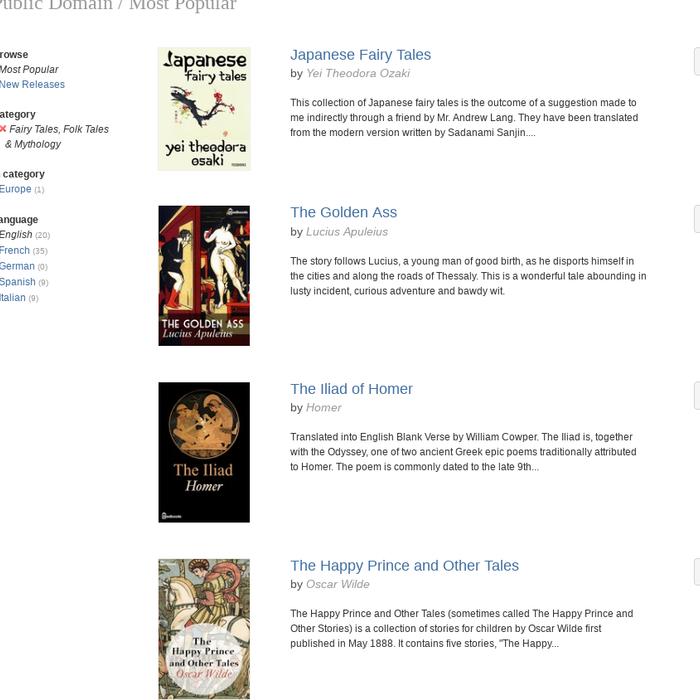 Mix · Fairy Tales, Folk Tales & Mythology / Public Domain / Most Popular