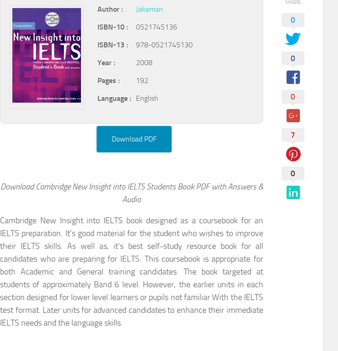 New Insight Into Ielts Book