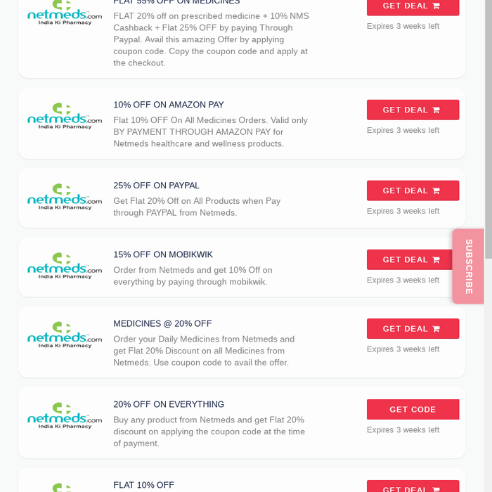 Mix · Netmeds Coupons & Offers | 40% OFF+ 50% Cashback