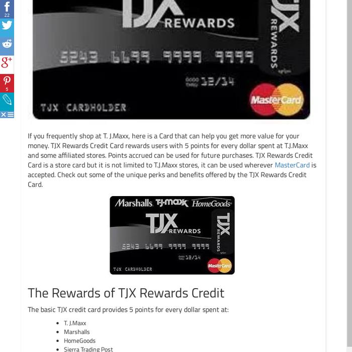 Tjx Rewards Credit Card Application Status | Cardfssn org