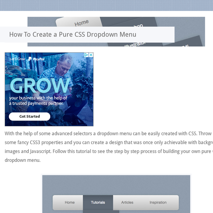 Mix · How To Create a Pure CSS Dropdown Menu