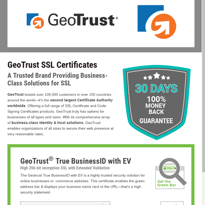 Mix Renewing Ssl Certificate With Geotrust At Cheap Price