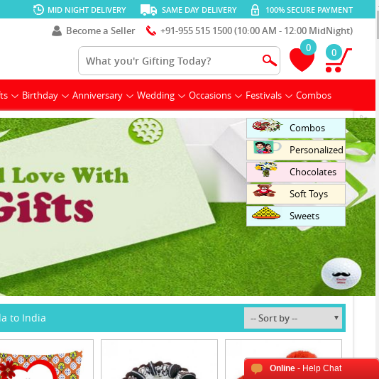 We Provide Same Day Midnight Gifts Delivery In India From Canada 1