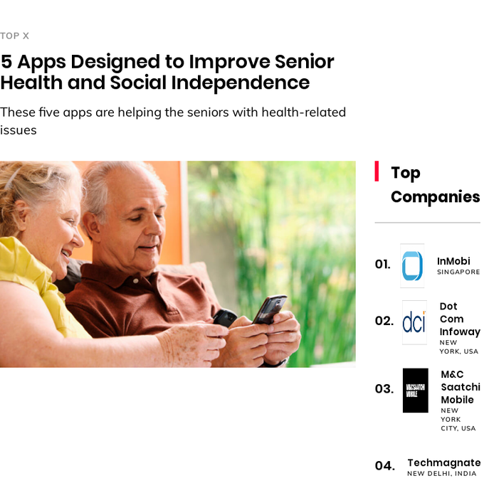 Five Apps That Encourage Independence >> Mix 5 Apps Designed To Improve Senior Health And Social Independence