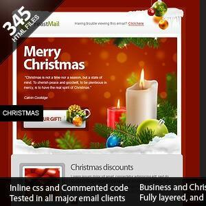 Mix 16 Best Christmas Email Newsletter Templates 2018