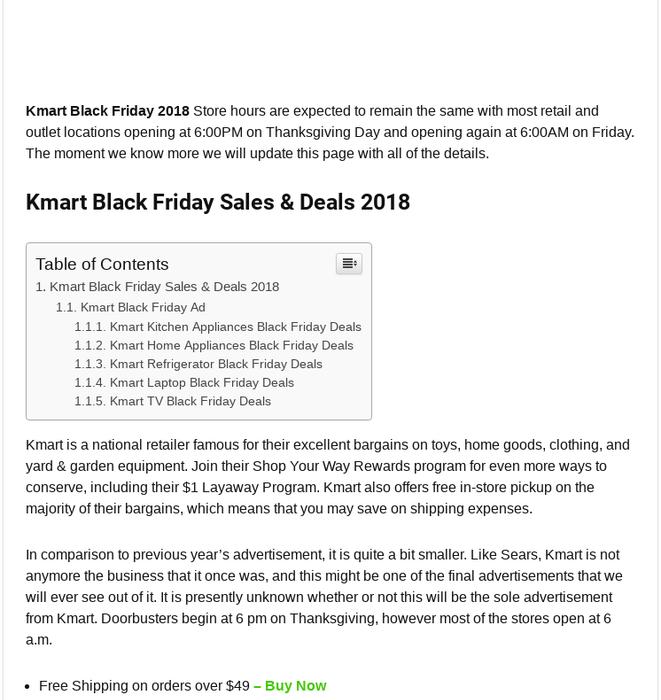 Mix Kmart Black Friday 2018 Ad Deals Sales 60 Off
