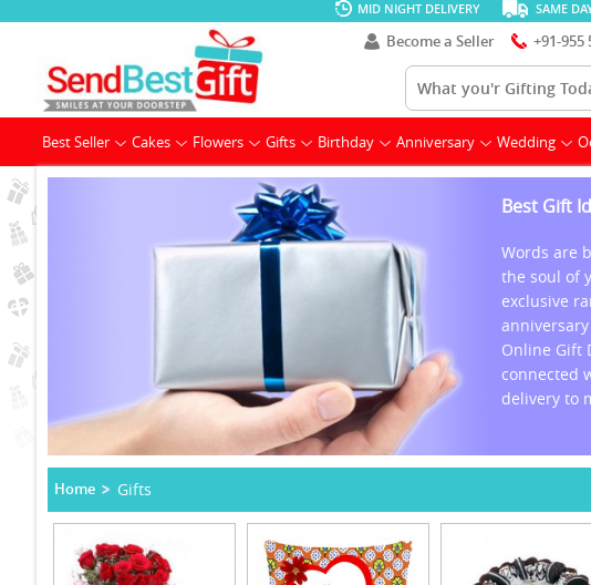 We Are The Best Gifting Site In India And Provide Free Gifts Home Delivery Service Across