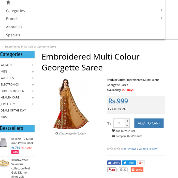 17b4b331d10963 xclusiveoffer.comAmbika Sarees Collection Embroidered Multi Colour  Georgette Saree With Blouse MaterialAmbika Sarees Collection Embroidered  Multi Colour ...