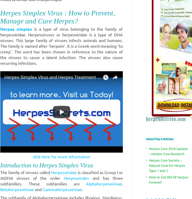 Top Twelve Natural Cure For Herpes Simplex 1 {Kwalai}
