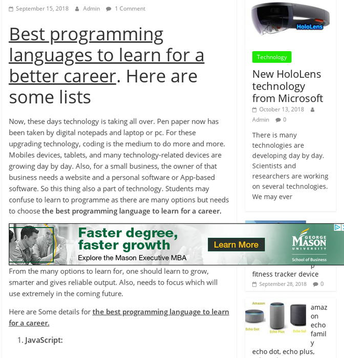 Mix · Best programming language to learn for a career