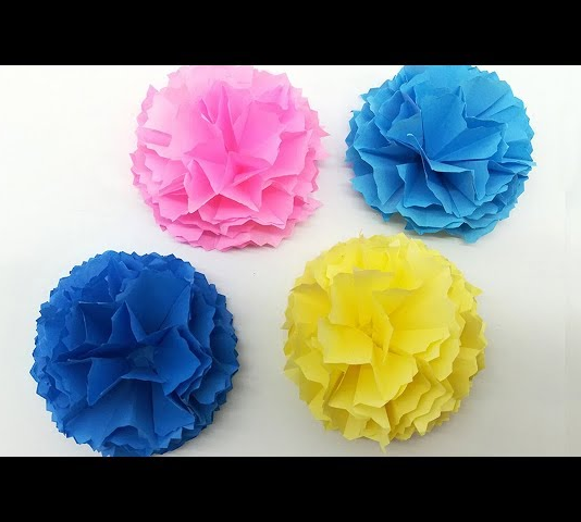 Mix Carnation Paper Flower Making Step By Step Tutorial Flores