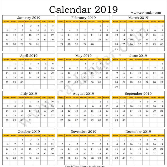 Mix 2019 Calendar Tumblr Printable Excel Template Download