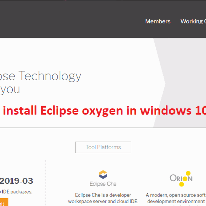 Mix · How to Download and install Eclipse oxygen in windows 10
