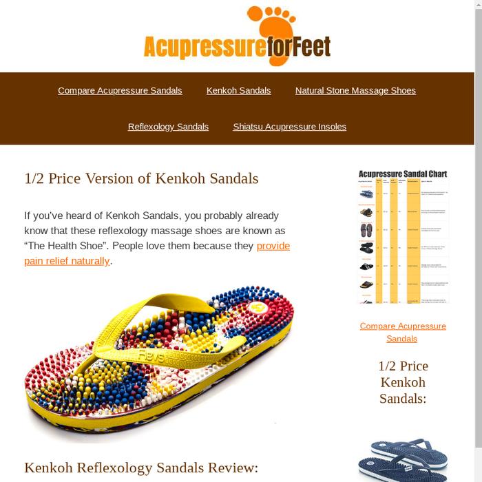 d0f17adb4da3 ... SandalsHow the Cheaper Version of Kenkoh Reflexology Sandals (Revs)  Compare