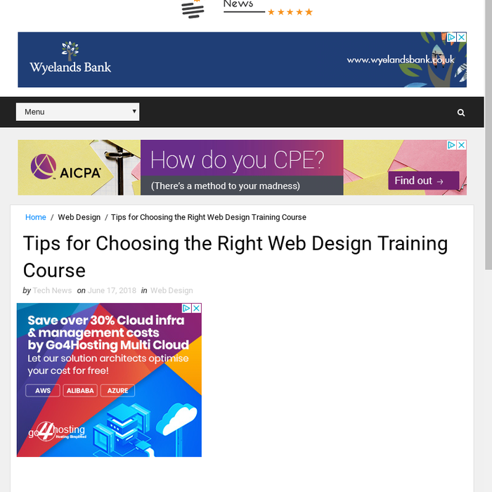 Mix Tips For Choosing The Right Web Design Training Course
