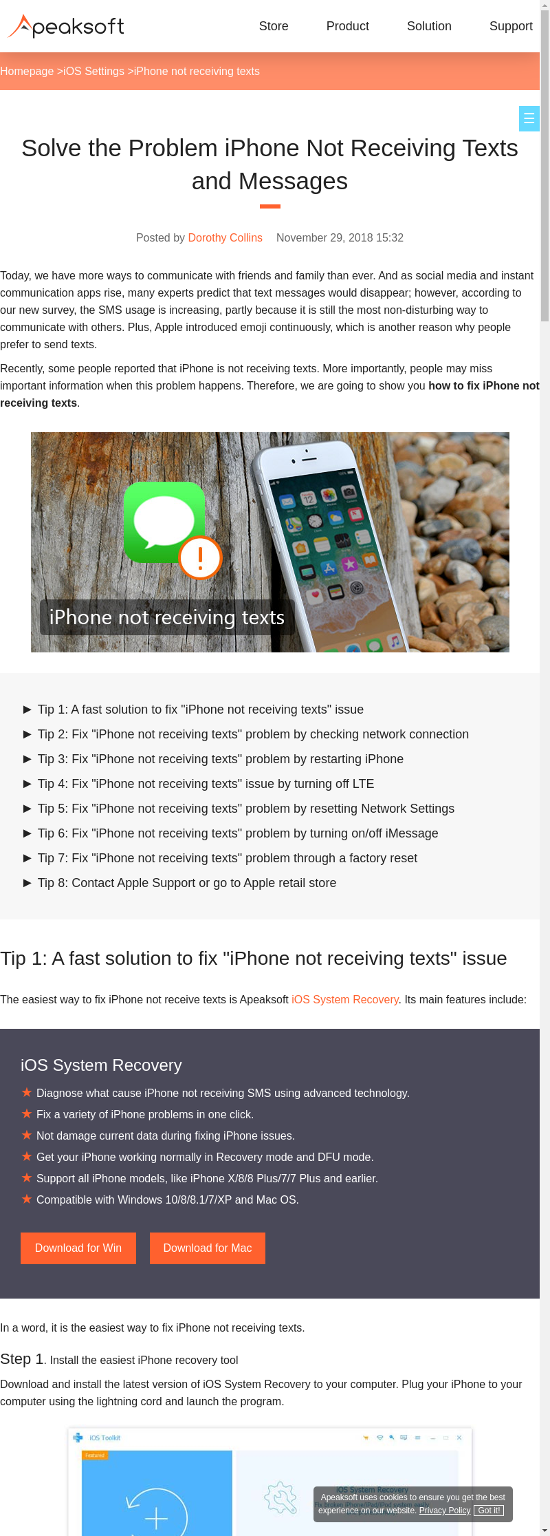 Mix · How to Fix iPhone not Receiving Texts