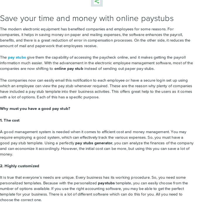 Mix · Save your time and money with online paystubs