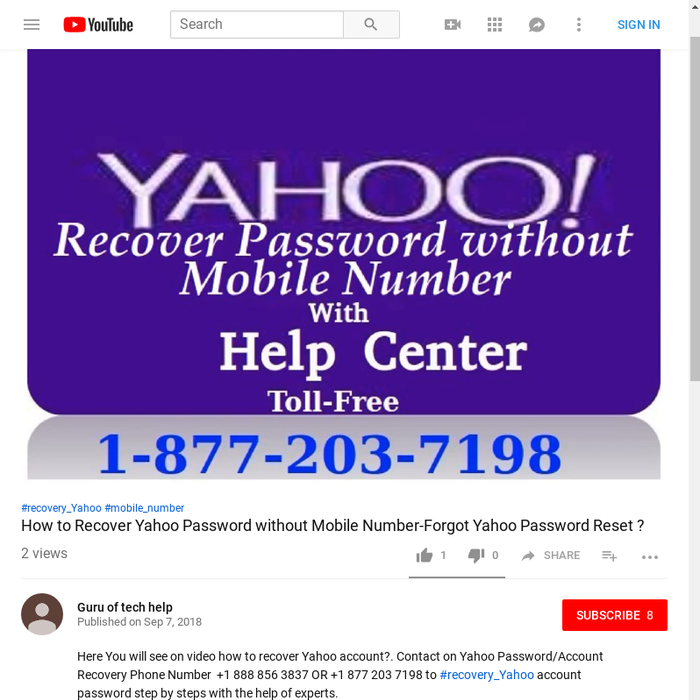 how to retrieve my yahoo account without phone number