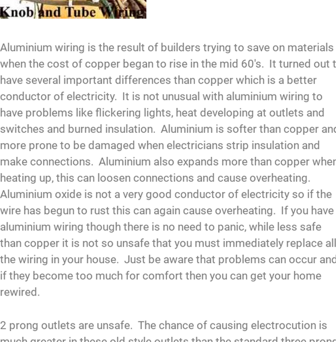 Mix · Is your house stuck in the electrical past? Adding To And Tube Wiring on