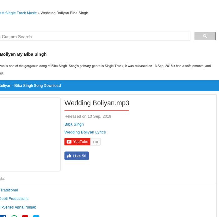 Mix Wedding Boliyan Mp3 Biba Singh Song Download Mr Jatt Io