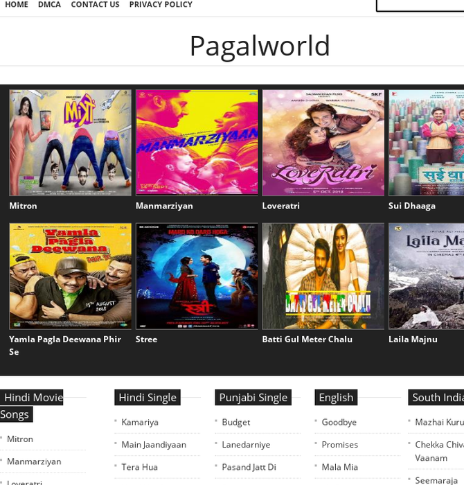 movie song download pagalworld 2018