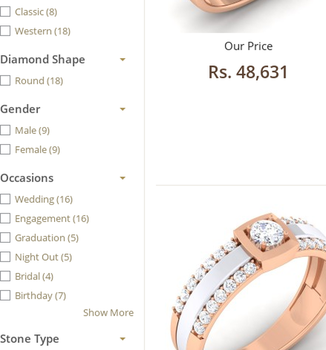b480d396e Buy Solitaire diamond Rings Online | Online Jewellery Shop | DisenoLooking  to buy solitaire diamond rings in India? Shop online at Diseno and go  through ...