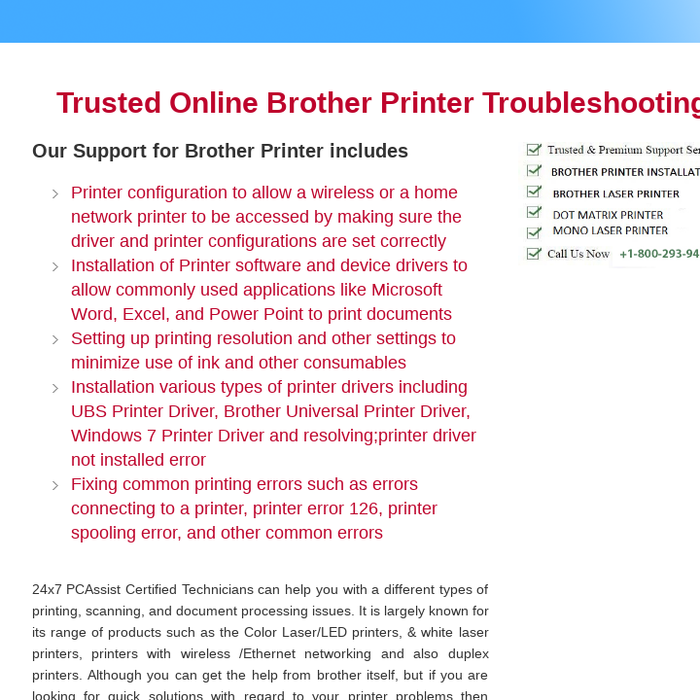 Mix · Brother Printer Support Contact Number 1-800-293-9401