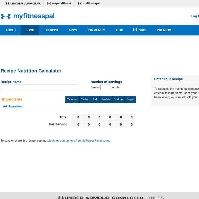 Mix Recipe Nutrition Facts Recipe Nutrition Calculator Calories