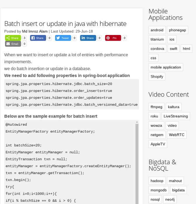 Mix · Batch insert or update in java with hibernate