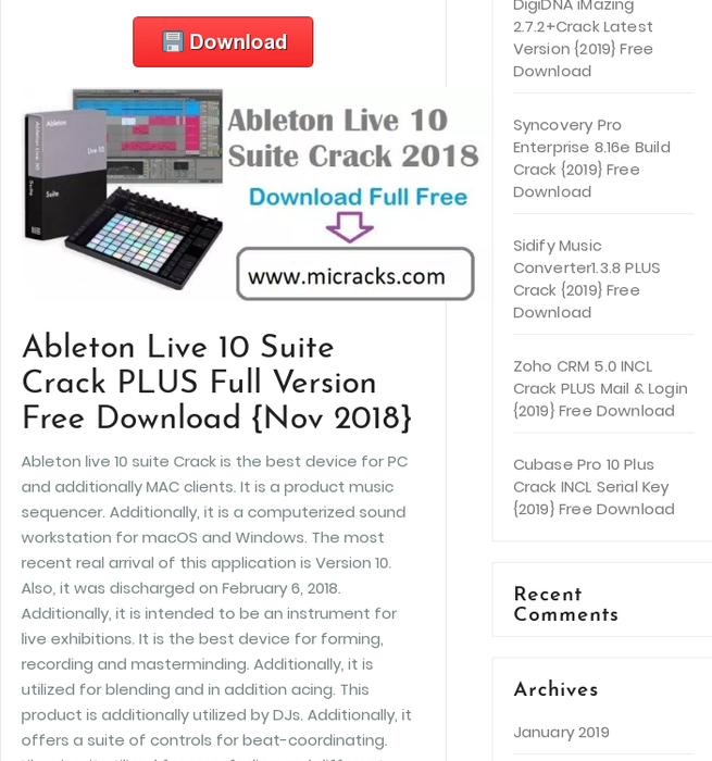Mix · Ableton Live 10 Suite Crack PLUS Full Version Free
