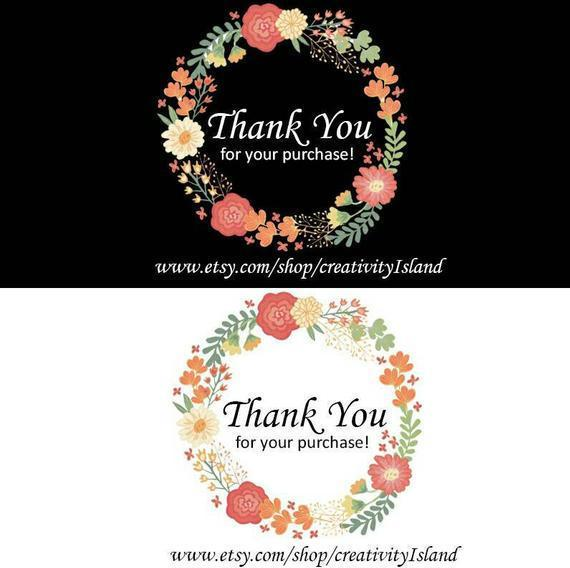 Mix 60 Thank You For Your Purchase Inserts Shop Thank You Card