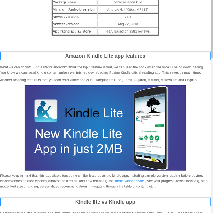 Mix · The Lightest Reading App is Here: Amazon 2MB Kindle