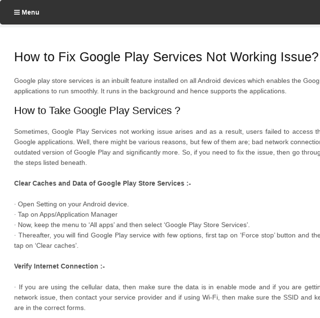 Mix · How to Fix Google Play Services Not Working Issue?