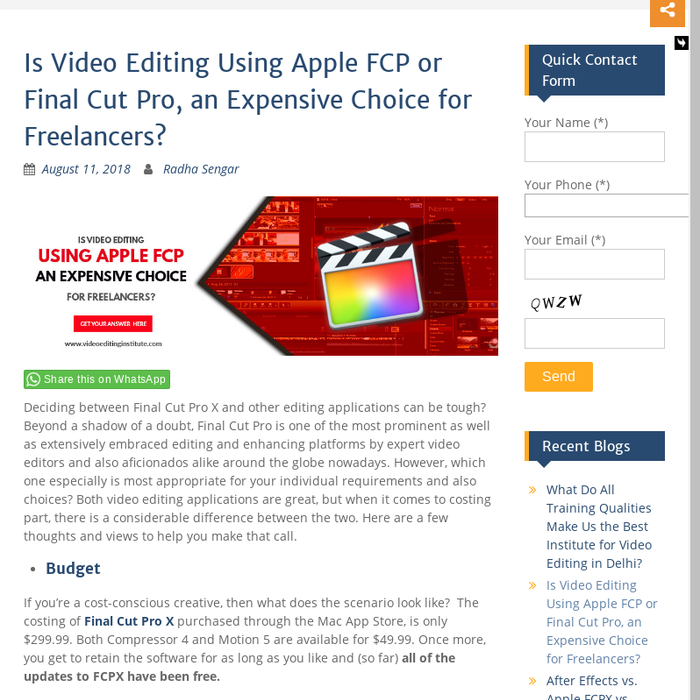Mix · Is Apple Final Cut Pro, an Expensive Choice for