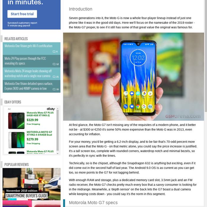 Mix · Motorola Moto G7 review