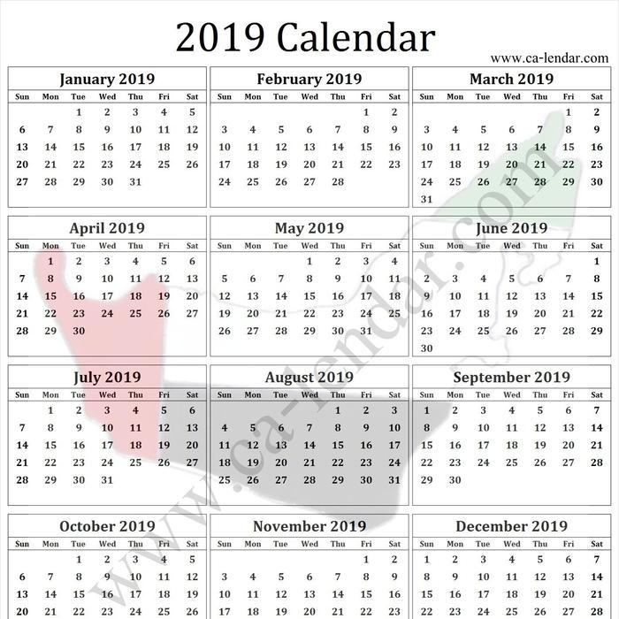 Mix Uae Calendar 2019 With Holidays Printable 2019 Calendar To Print