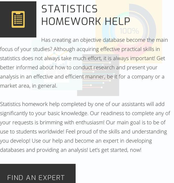 i need help with statistics homework
