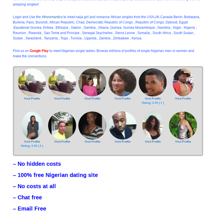 latest free nigeria dating site