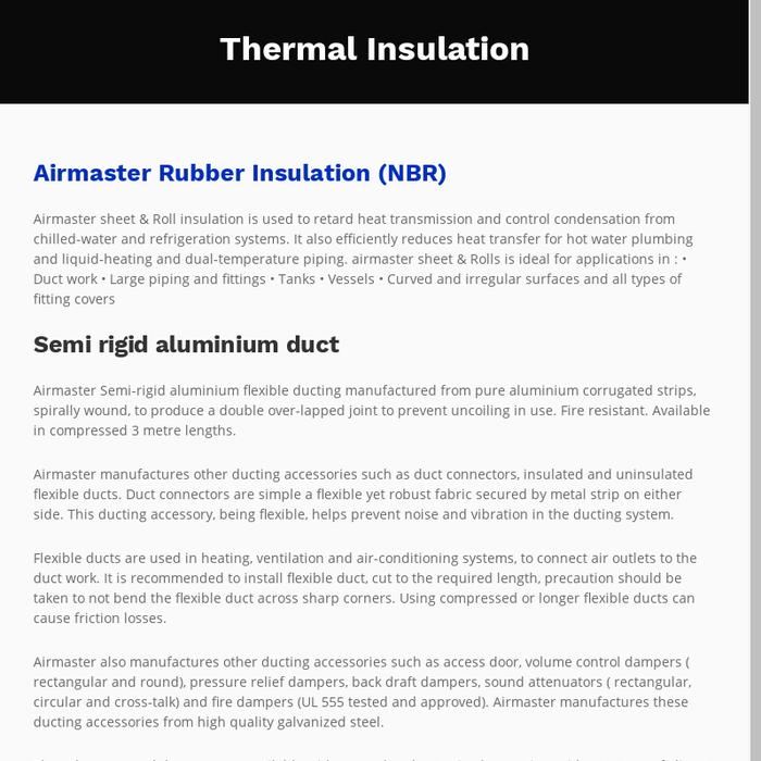 Mix · Thermal Insulation Materials - Rubber Insulation |Semi