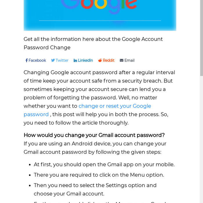 Mix · Want to change or reset you Google password?